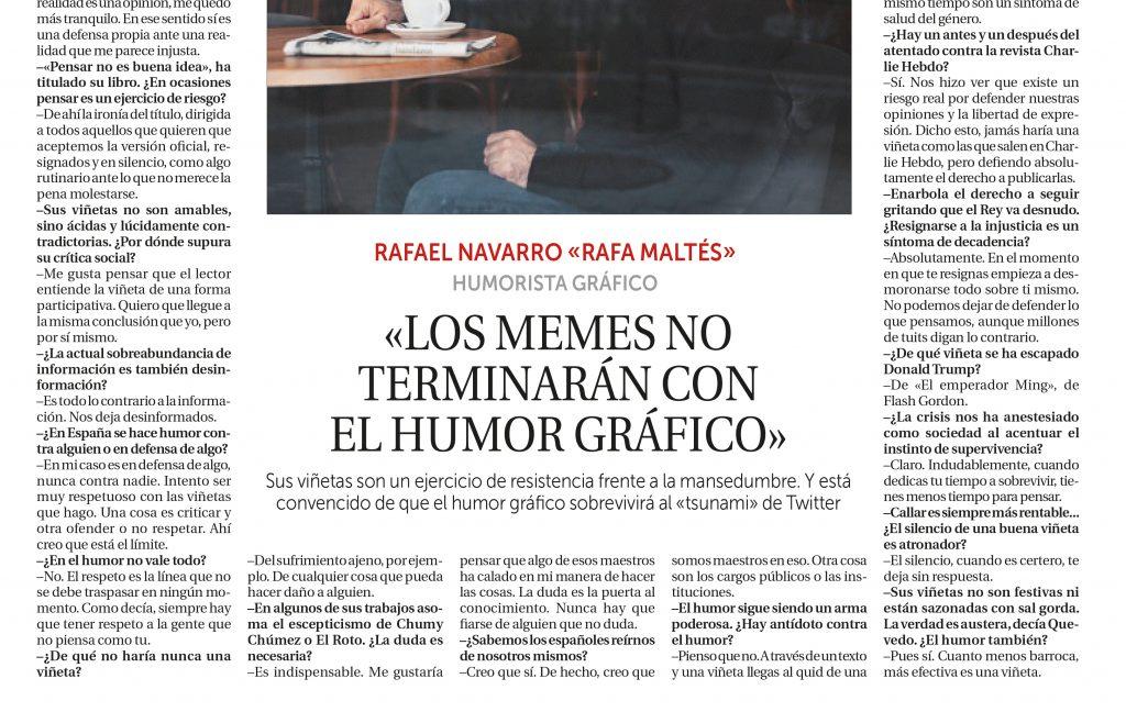 Diario la razón - Rafa Maltés